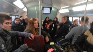 Ambiance dans le RER!