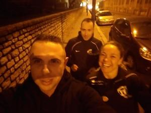 Petit Footing dans Paris à la Veille de la Compétition